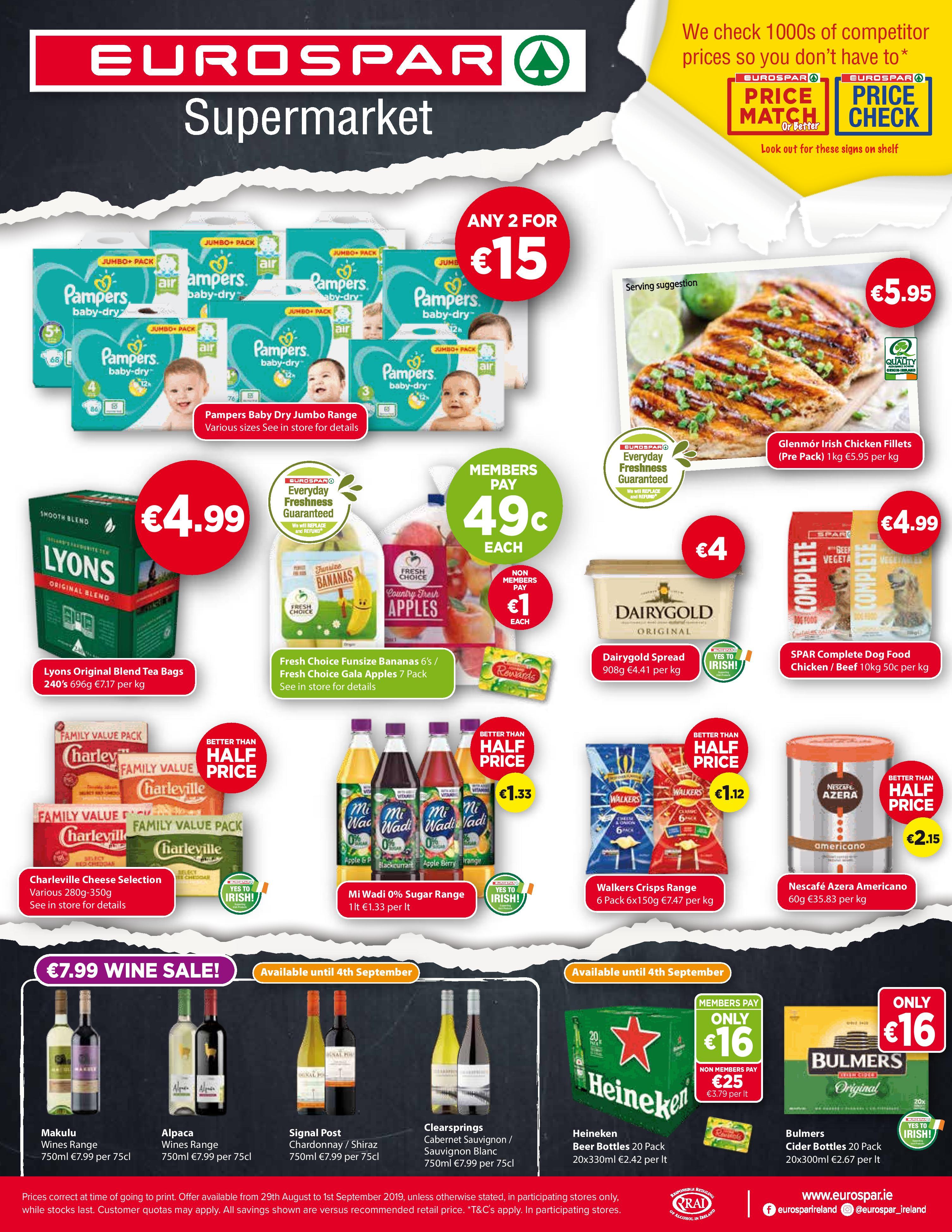 special offers back to school eurospar supermarket